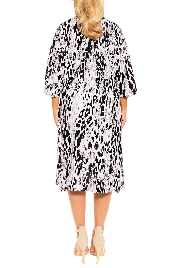 Black White Leopard Resort Dress - ESMERALDA THOMSON Beach and Resort Wear