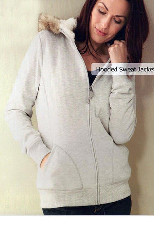 soft and warm hooded jacket with faux-fur trim- ESMERALDA THOMSON