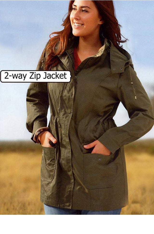 Olive Rain Coat - Jacket - ESMERALDA THOMSON