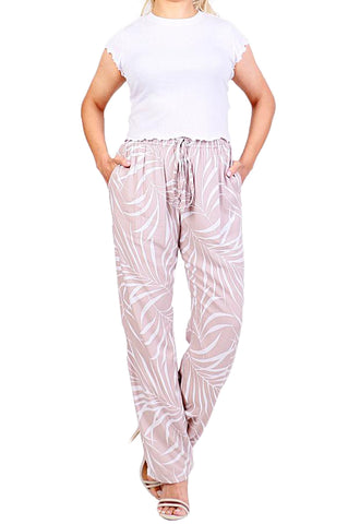 Mocha Boho Resort Pants - ESMERALDA THOMSON Beach & Resort Wear