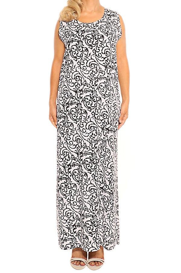 Black Sleeveless Maxi Dress - ESMERALDA DRESS Beach & Resort Wear