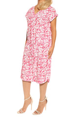 Fuchsia Resort Dress - ESMERALDA THOMSON Beach and Resort Wear