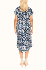 Navy Short Sleeve Resort Dress - ESMERALDA THOMSON Beach and Resort Wear