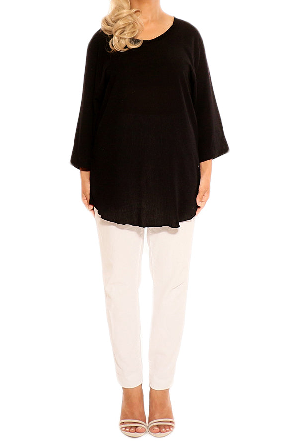 Black Cotton Tops - ESMERALDA THOMSON Boho Chic Resort Wear