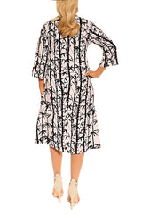 Black White Resort Dress - ESMERALDA THOMSON Beach and Resort Wear