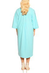 Aqua Milano Linen Dress - ESMERALDA THOMSON Fine Linen Clothing