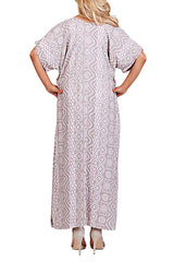 Mocha Resort Kaftan Maxi Dress - ESMERALDA THOMSON Boho Resort Wear