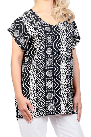 Black Resort Boho Top - ESMERALDA THOMSON Boho Resort Wear