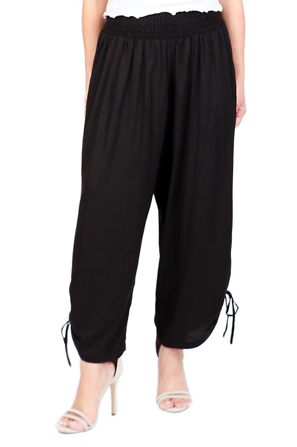 Black Harem Pants - ESMERALDA THOMSON Beach & Resort Wear