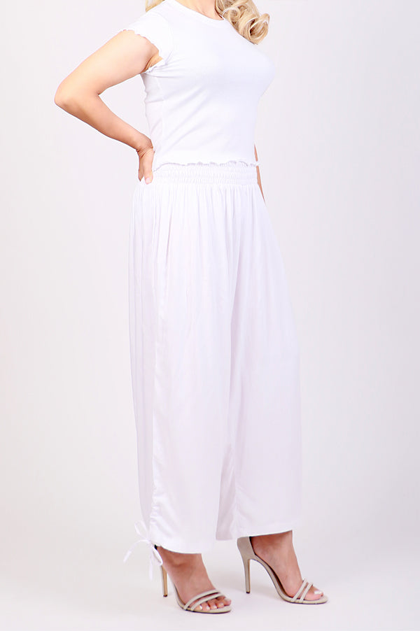 White Harem Pants - ESMERALDA THOMSON Beach & Resort Wear
