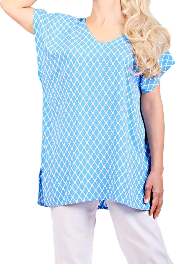 Blue Resort Boho Top - ESMERALDA THOMSON Boho Resort Wear