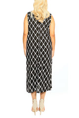 Black Sleeveless Resort Dress - ESMERALDA THOMSON Beach and Resort Wear