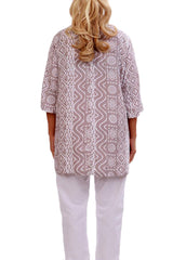 Mocha Resort Tunic Tops - ESMERALDA THOMSON Chic Boho Resort Wear