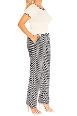 Black & White Boho Resort Pants - ESMERALDA THOMSON Beach & Resort Wear