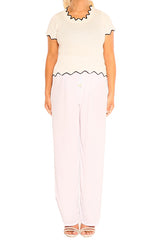 White Boho Resort Pants - ESMERALDA THOMSON Beach & Resort Wear
