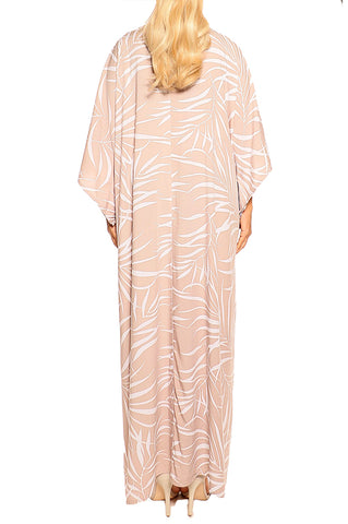 Mocha Kaftan Maxi Dress - ESMERALDA THOMSON Boho Resort Wear