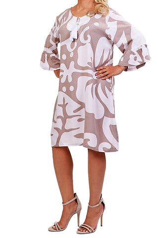 Mocha Resort Dress - ESMERALDA THOMSON Beach and Resort Wear