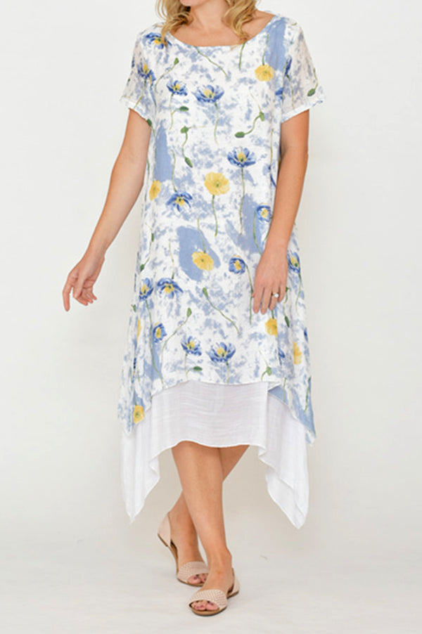 ESMERALDA THOMSON Cotton Silk Floral Dress