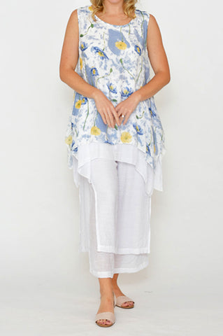ESMERALDA THOMSON FLORAL SILK TOP