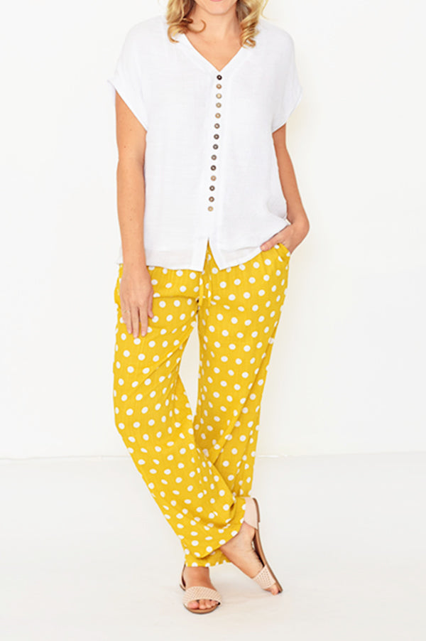 ESMERALDA THOMSON BOHO RESORT PANTS MUSTARD