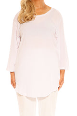 White Cotton Tops - ESMERALDA THOMSON Boho Chic Resort Wear
