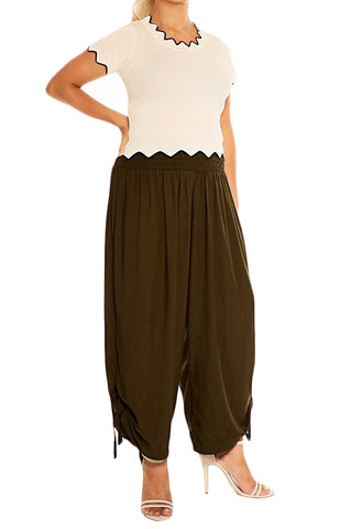 Olive Green Harem Pants - ESMERALDA THOMSON Beach & Resort Wear