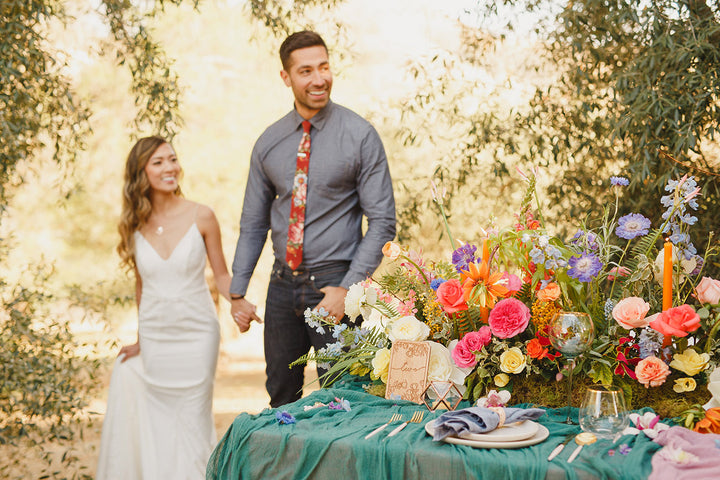 A Wildly Colorful Boho Wedding with Handmade Finds & GreenWeddingShoes