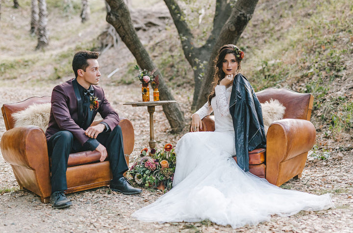 Gorgeous Wedding Inspiration with Colorful Fall Foliage