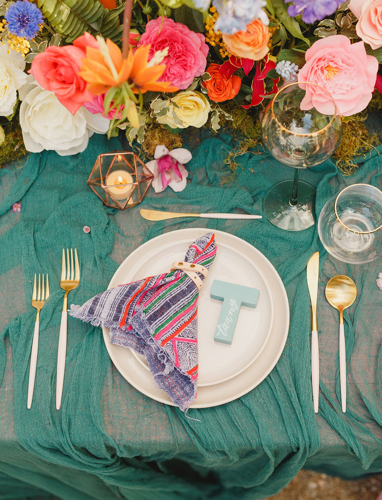 colorful boho wedding with handmade finds