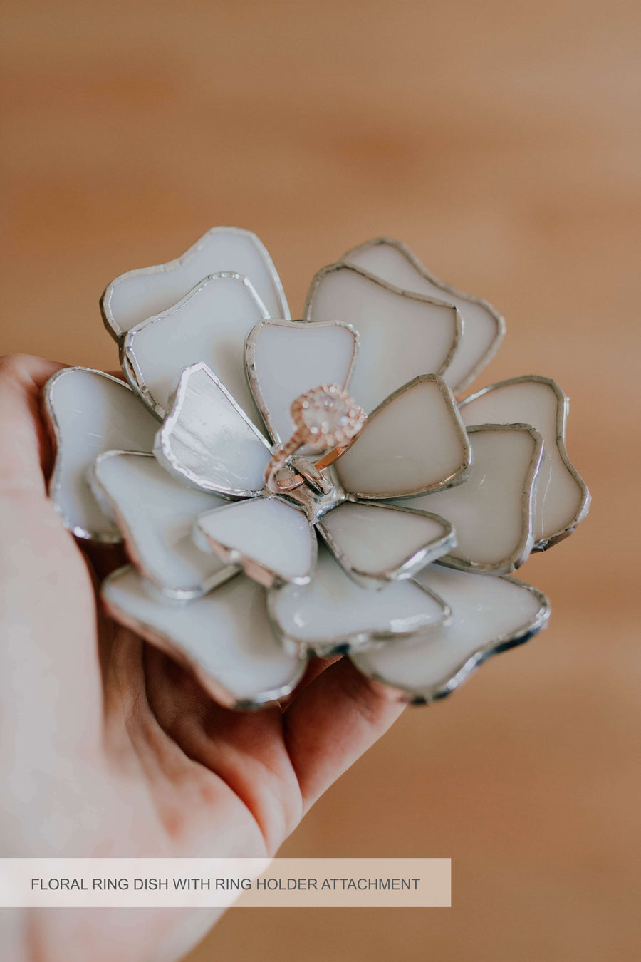 Floral Wedding Jewelry Dish