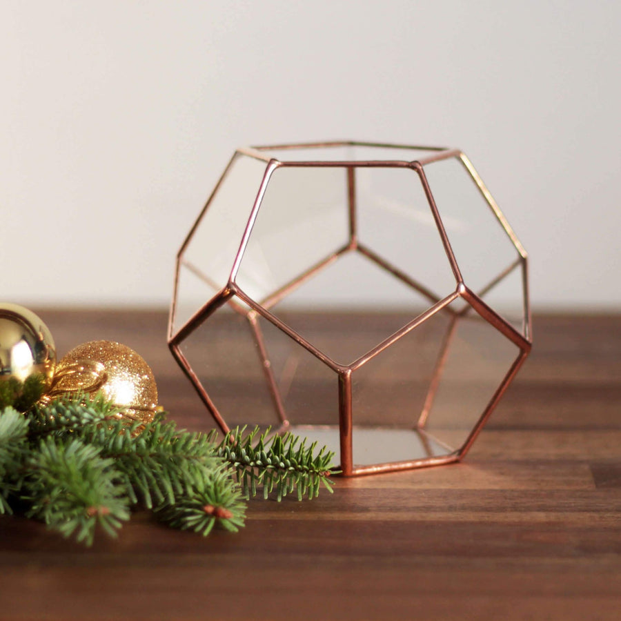 Small Geometric Terrarium Container | Gift for Gardeners by Waen