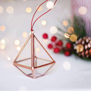 geometric christmas ornament
