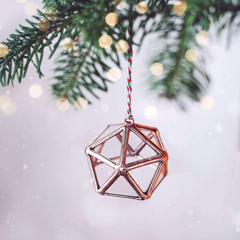geometric christmas ornaments