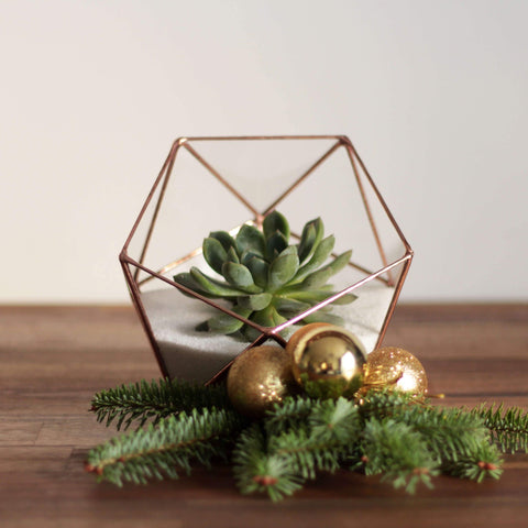 geometric christmas table centerpiece