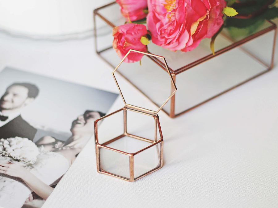 geometric jewelry box