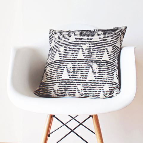 geometric linen pillow case