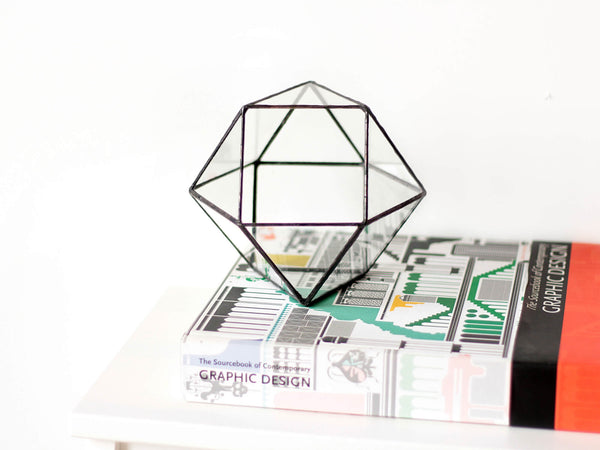 geometric planter for indoor gardening
