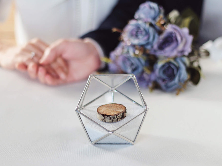 geometric ring bearer box