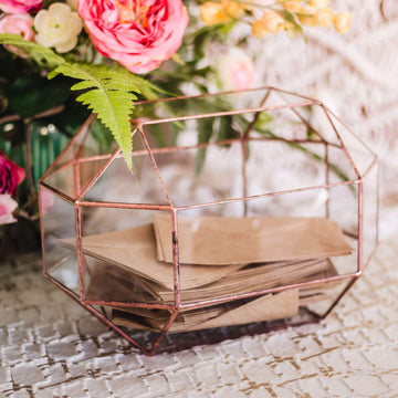 stained glass geometric wedding card box envelope holder