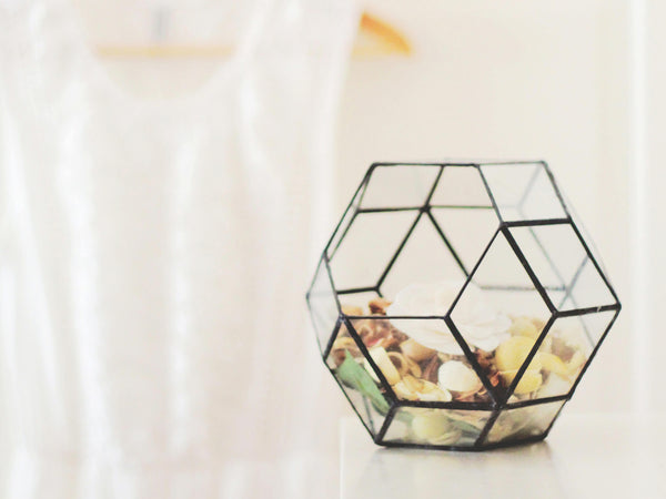 glass geometric jewelry holder
