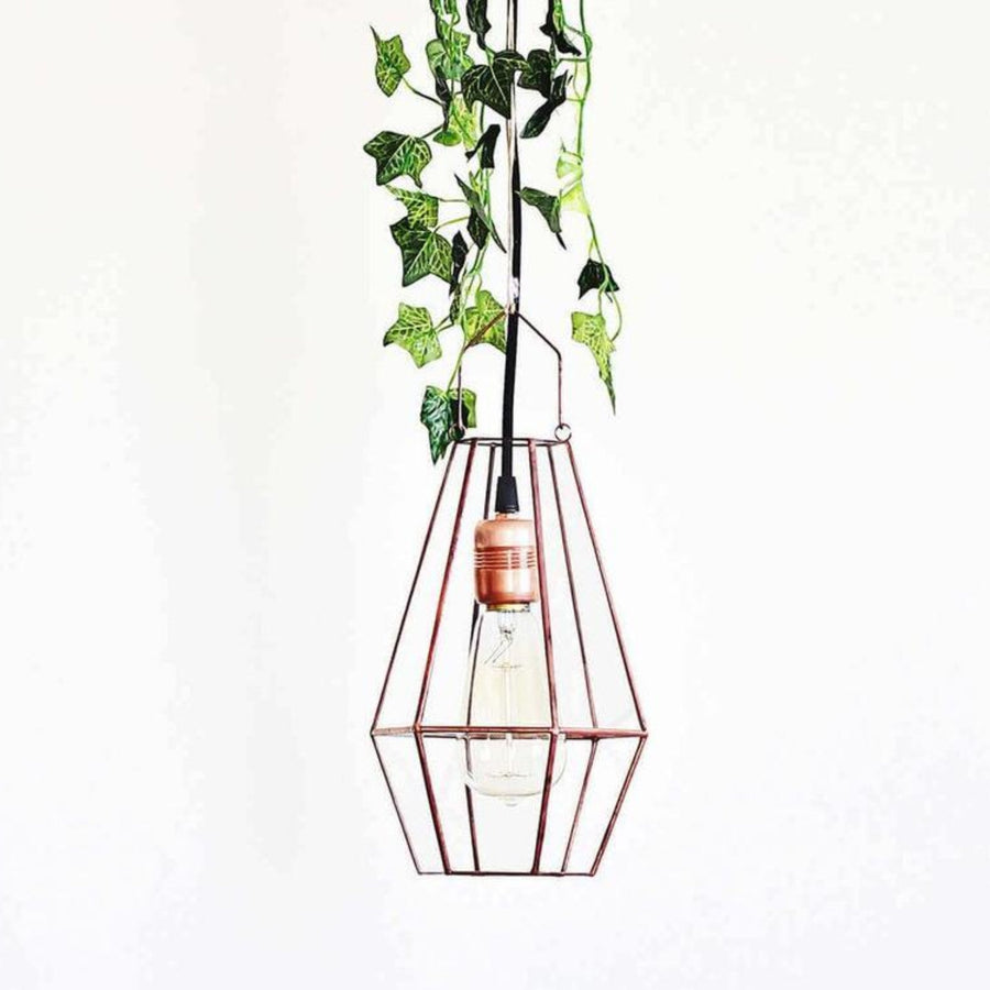 large glass geometric pendant light
