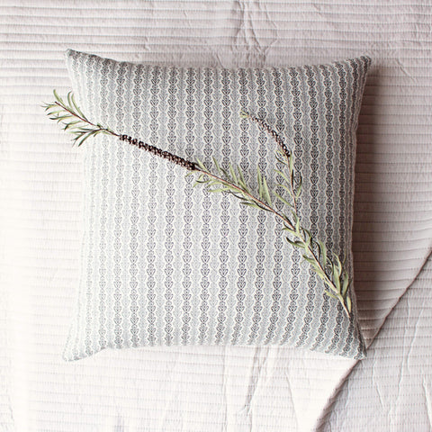 neutral linen pillow