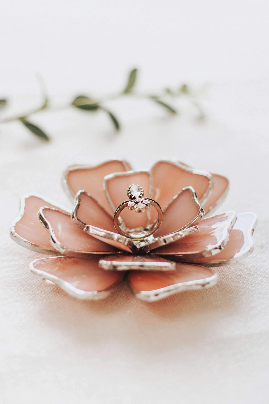 Flower Wedding Ring Dish