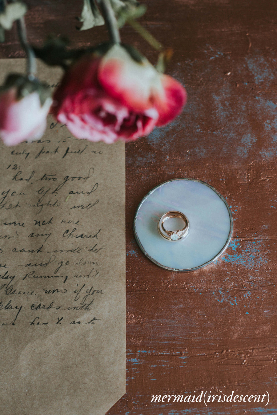 rustic wedding ring dish