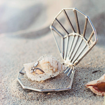 seashell wedding ring box
