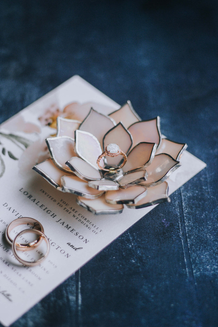 stained-glass-light-pink-iridescent-succulent-shaped-engagement-wedding-ring-dish-holder