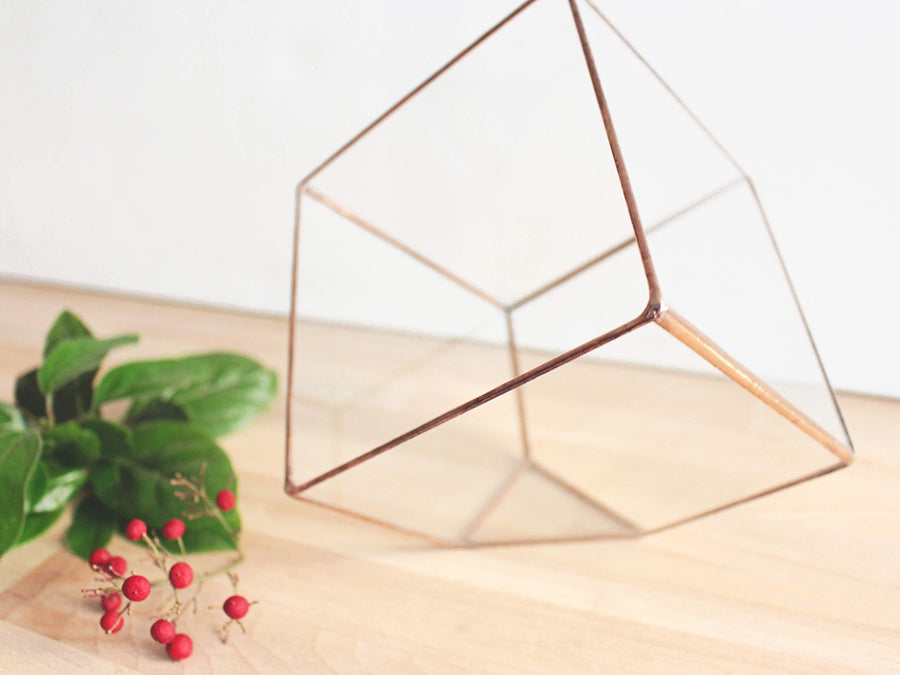 stained glass copper terrarium