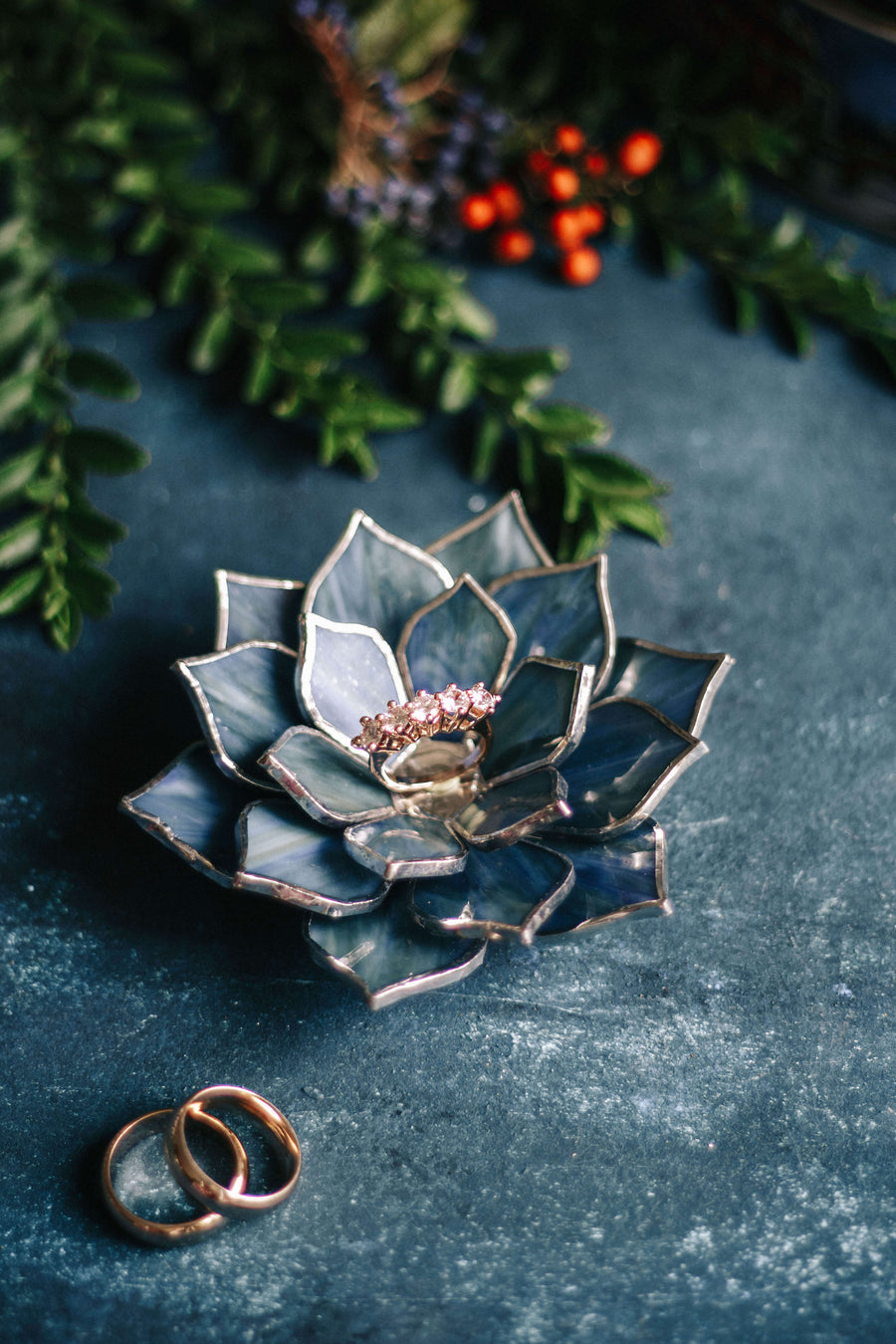 succulent ring dish for weddings