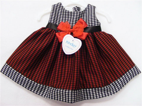 Beautiful dog-tooth Dress size 0-3 mths