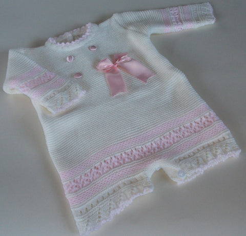 Stunning knitted romper  size 1mth
